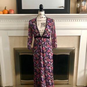 Gorgeous Fan Print Maxi dress
